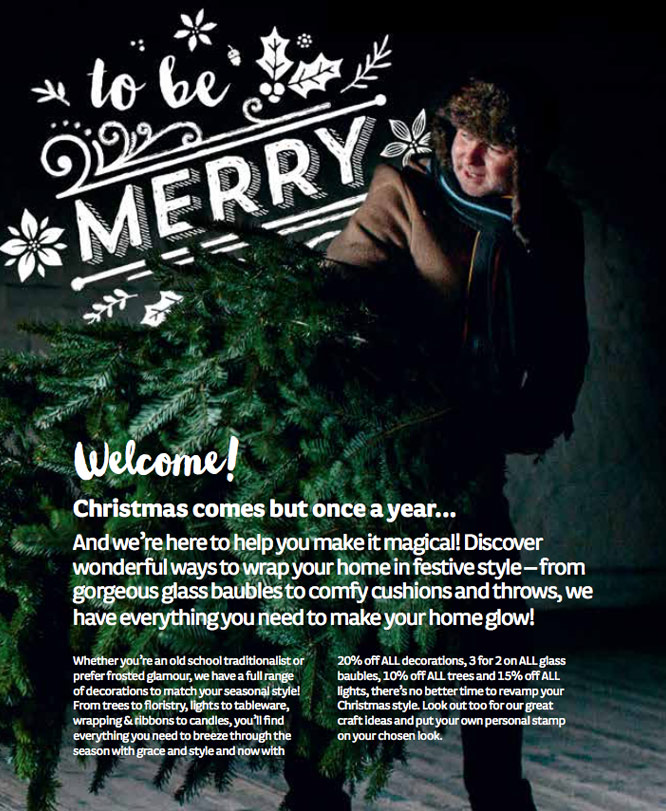 Woodie's 2015 Christmas catalogue with copywriting by Gillian Colhoun